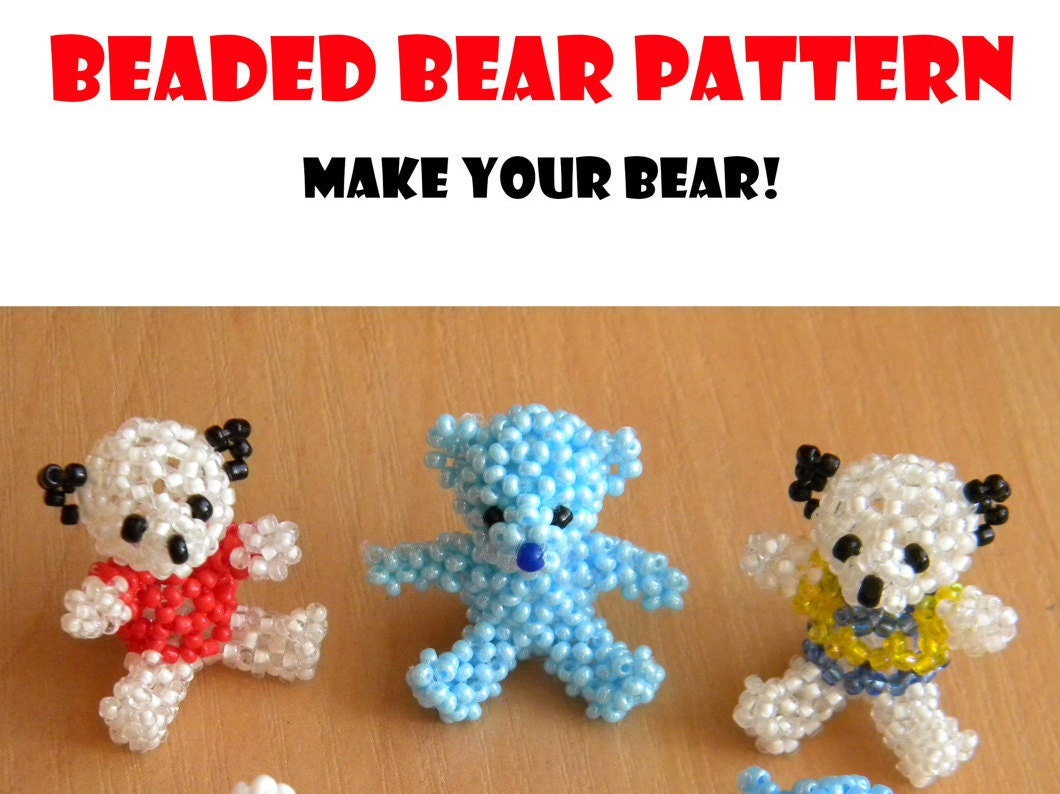 animal pattern pdf beaded pdf beaded teddy pdf