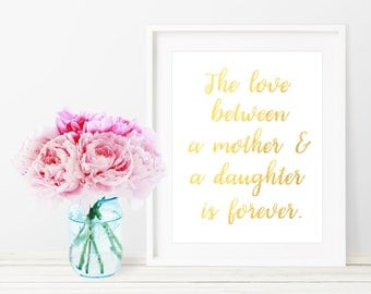 Mothers Day Gift / Mothers Day Print / Mother Daughter Gift / Mothers Day Sign / Gift For Mom / Gift For Her / Quotes About Family / Burlap