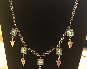 Patina and Arrow Necklace