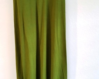 Vintage Olive Green - Max Studio - Lycra Full Length Dress - XSmall