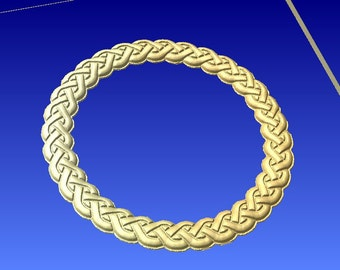 Celtic style rope pattern circle frame cnc stl carving pattern cnc projects and 3d clipart