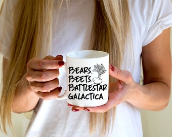 Bears Beets Battlestar Galactica- Dwight Schrute - The Office - TV Show Mug - Custom Coffee Mug