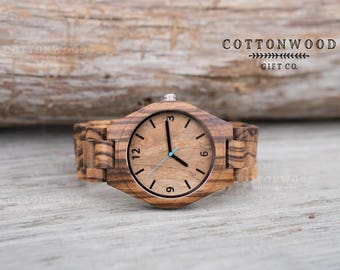 Mens Personalized Watch, Husband Gift, Mens Wooden Watch, Mens Wood Watches, Gifts for Him, Mens Gift, Boyfriend Gift, Father Gift
