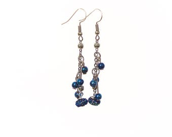 Royal Blue Drop Earrings | IYS Spring Collection