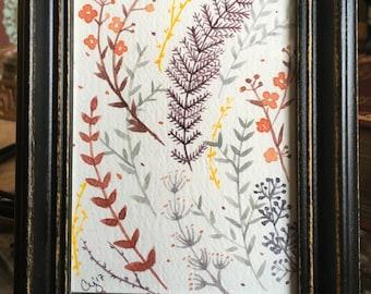 Dainty Flowers // Original Watercolor Painting