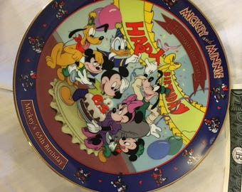Disney Happy Birthday Mickey Mouse Collector Plate