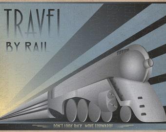 Art Deco Poster of a Dreyfuss Train