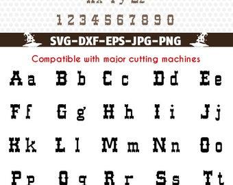 Western Alphabet Svg, Western Font Alphabet, Western Svg, monogram Alphabet download Cricut files svg College Silhouette