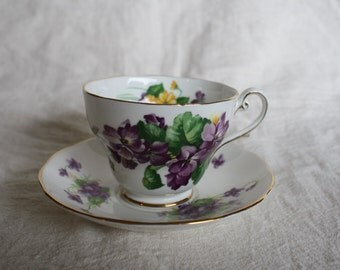 Vintage Teacup and Saucer - Royal Standard & Salisbury Fine Bone China - Not Matching pieces *but very close!*