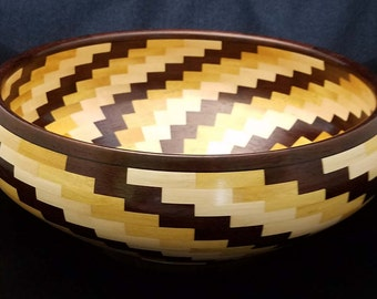 Bumble Berry Swirl - Segmented Wood Bowl
