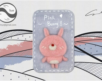 Needle Felting Kits,Bunny,Rabbit,Cute Kit,Handmade,Accessories