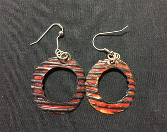 Ridged Oval (Copper and Enamel)