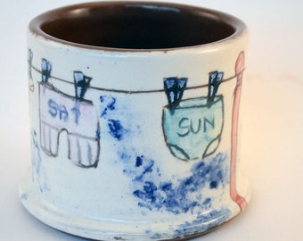 Quirky Sugar Bowl - Knicker design