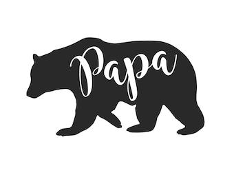 Papa Bear IRON ON Transfer Decal Heat Transfer Vinyl Papa Bear Shirt Father's Day Dad Shirt