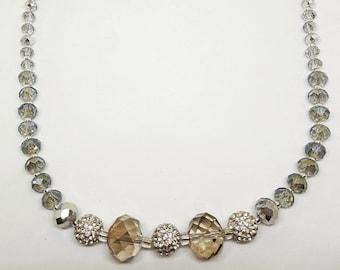 Rainbow sparkle necklace