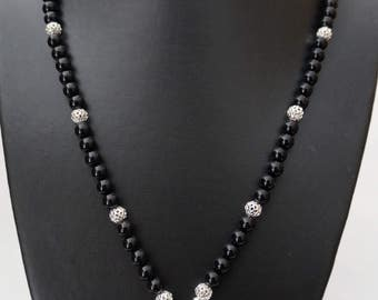 8MM ONYX NECKLACE