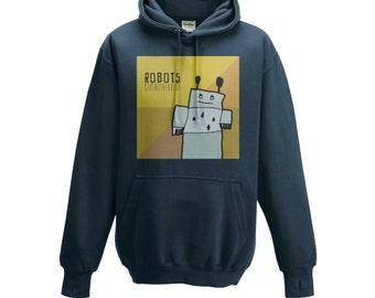 Kids Hooded Sweatshirt Graphic (ROBOTS) - Stringtheorist Official Merchandise
