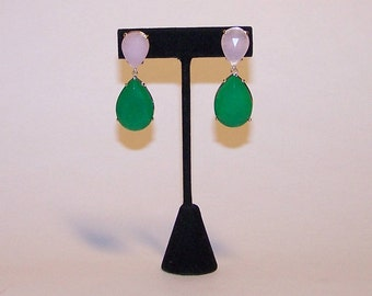 Dyed jade Teardrop EARRINGS