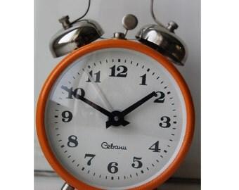 Soviet alarm clock Sevani, Vintage alarm clock USSR, Sevani, Soviet clock