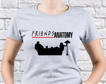 Friends/ Greys Anatomy/ Womens tshirt/ Greys Anatomy TV/ Greys Anatomy tshirt/  Ross Geller tee/ Friends Anatomy tee/ Friends sofa/ (FR08)