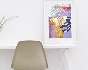 Silkscreen print - multicolour