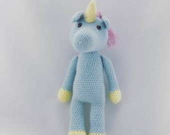 Denise the Unicorn crochet amigurumi toy