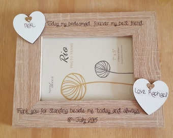 Personalised Wooden Photo Frame Gift for weddings, birthdays, mothers day, home gifts