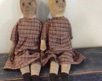 Sister rag dolls