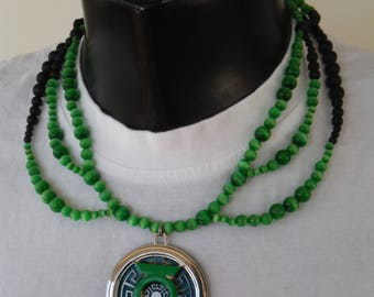 Green Lantern (Simon Baz Inspired) necklace.