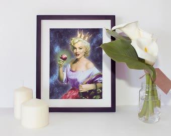 Marilyn Monroe Print - Wall Art - Fairytale print - Snow white poster - Snow White Art