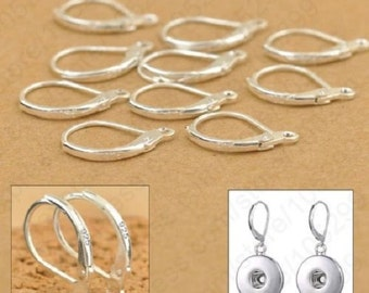 Sleepers hooks earrings Silver 925 stamped 1000: batch of 50 or 100