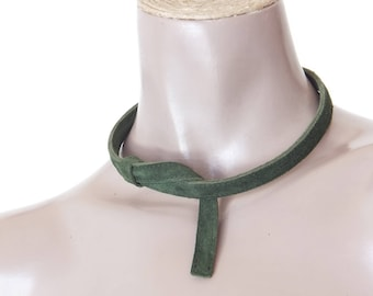 NECKLACE BRACELET ANKLET Barrette Moldable leather woman!! Boa 50