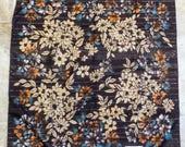 Vintage Norma Legge Tiziano Brown Floral Scarf