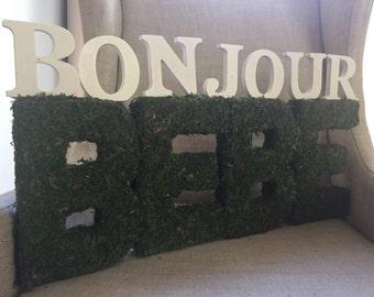 Bonjour Bebé Shower Sign/Centerpiece