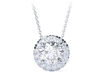 Diamond necklace with centre stone of your choice