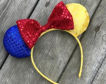 Snow White Ears - Disney Ears - Minnie Ears - Mickey Ears