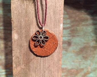 Ceramic Pendant (With Flower)