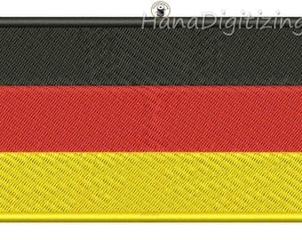 Germany Flag Machine Embroidery Design 3 Sizes