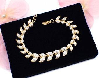 Bridal jewelry, gold crystal bracelet, bridal rhinestone bracelet, gold bridesmaid bracelet,rhinestone wedding bracelet,gold wedding jewelry