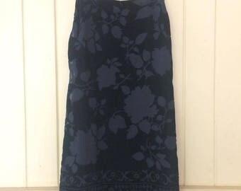 90's burnout velvet dress
