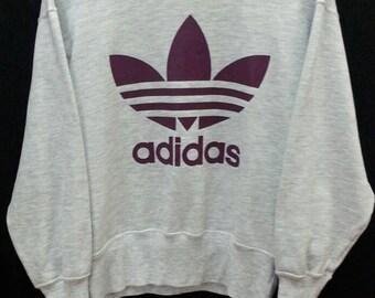 Vintage ADIDAS Trefoil//Sweatshirt Big Logo//Size M Jaspo
