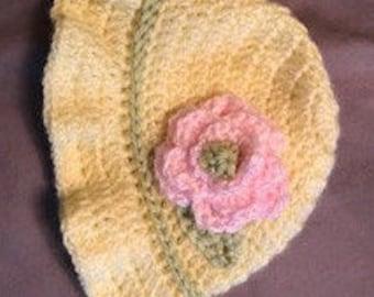 Crocheted baby sun hat