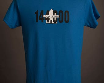 Blue Fringed 144,000 House of Israel Tshirt