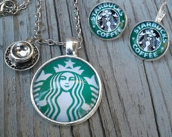 Starbucks Necklace (Free Earrings!)