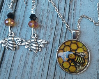 Honey Bee Necklace (necklace only)