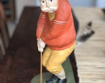 Vintage Golfer Liquor Canister
