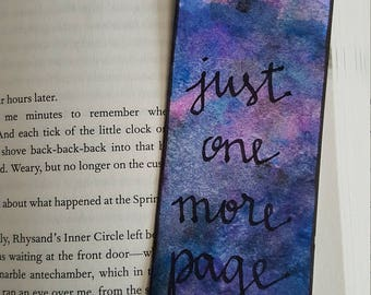 Just One More Page Painted Bookmark