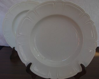 Lot of two dishes low relief PICKMAN the 19th century Carthusian monastery.