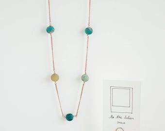 Aqua Copper Necklace