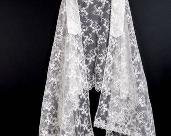 Women's Off White Prayer Shawl, Tallit, for Bat Mitzvah or Special Event